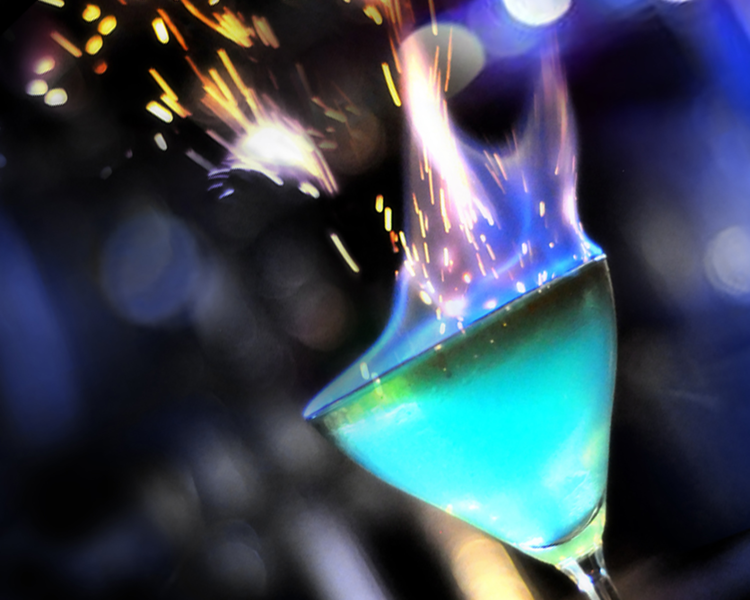 Photo: house made drinks - flame